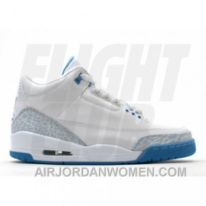 WS Air Jordan Retro 3 White Harbor Blue Boarder Blue 315296-142 Cheap To Buy BdsBdkb