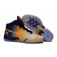 "Air Jordan 30 XXX ""Cal Golden Bears"" White-Navy/Yellow 2016 Authentic DzxHD"