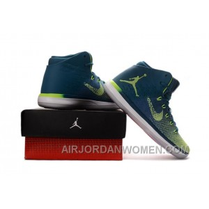 "2017 Air Jordan XXX1 Brazil ""Rio"" Green Abyss/Ghost Green-White Authentic YmPe7cy"
