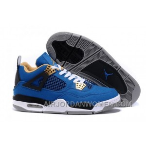 Eminem Air Jordan 4 Blue Black White New