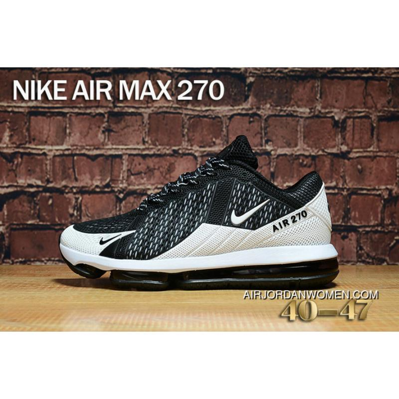 Nike Air Max 270 White Black Max270 Running Shoes New Style ...