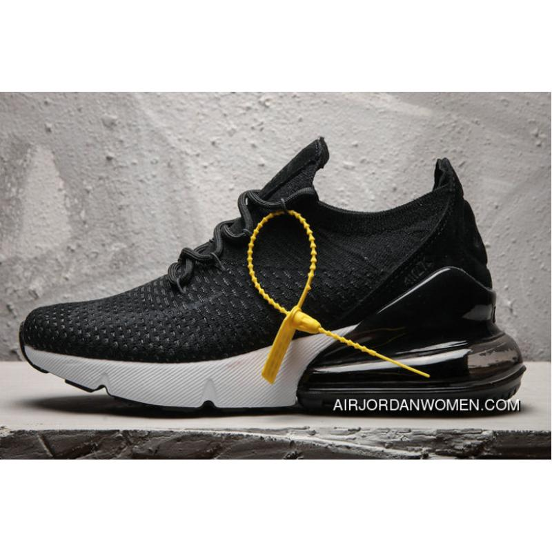 Nike Air Max 270 Flyknit Black White Max270 Running Shoes Best ... fc58ca3257