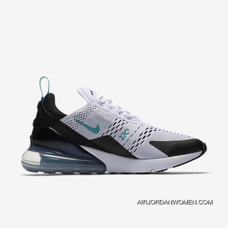 Mens Nike Air Max 270 White/White/Black For Sale ...