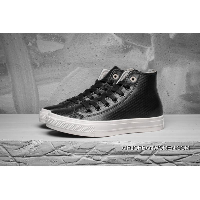 The CONVERSE Chuck Taylor All Star II Pure Color Cow Leather Black 153555 C For Sale