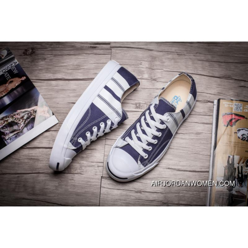 Converse JACK PURCELL Purchell Stripe Canvas Shoes Blue 151657 C ... 2ee269229
