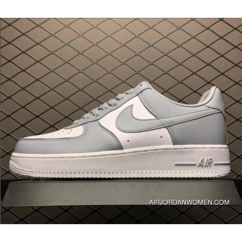 reputable site e4336 74a74 Nike Air Ce One Af1 Low White Wolf Grey Men's Shoes AQ4134-101 For Sale