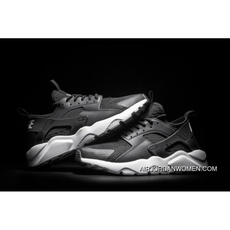 Nike Huarache 4 Series Air Run Ultra Breathable Mesh Black And White Air Max Zoom 35-45 SKU 857909-001 New Style