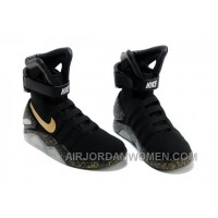 Nike Air Mag Back To The Future Limited Edition Shoes Black Gold Copuon Code CPNn5