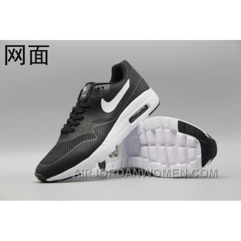 outlet store 9b442 25d7f Nike Air Max 1 Ultra Flyknit 87 Oreo Black White Men Women Cheap To Buy  NbYAkP