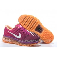 Authentic Nike Air Max 2017 Peach Purple Orange Discount HyGT8BX