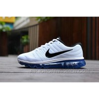 Authentic Nike Air Max 2017 White Black Royal Blue Super Deals 2TkAN