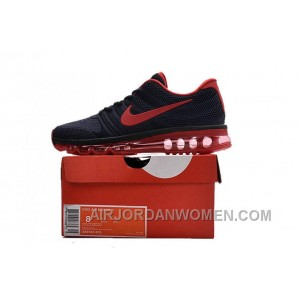 Authentic Nike Air Max 2017 KPU All Navy Red Discount Ps6iD