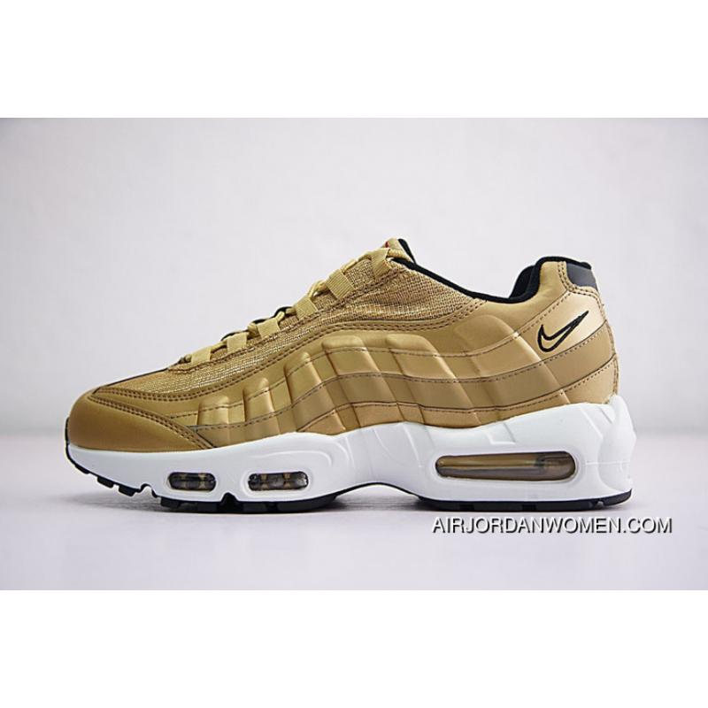 Men Shoes Nike Air Max 95 PRM Retro All-match Jogging Shoes Gold Medal  918359 ...
