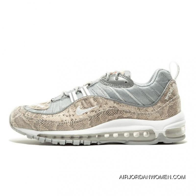 new photos 5a4d9 dc0c1 USD  64.18  179.69. Nikelab X Supreme Air Max 98 Limited Edition Snakeskin  Sail Metallic Silver-Varsity Red ...