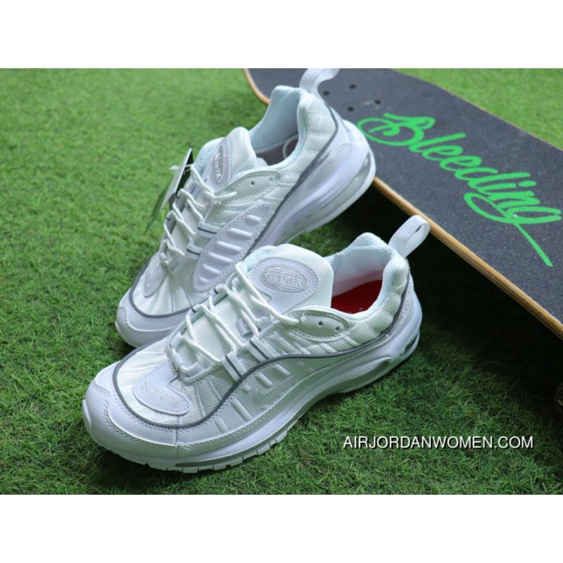 83cddfc3789 Nike Air Max 98 Retro Zoom All-match Jogging Shoes All White 640744 ...