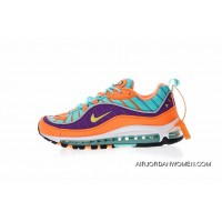 Replenishment Of Dragonball Colorways Nike Air Max 98 Retro Zoom Allmatch Jogging Shoes Orange Purple Lake Blue 924462800 New Year Deals