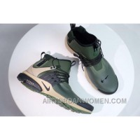 NIKE AIR PRESTO MID UTILITY Men Military Green Free Shipping MCZ28