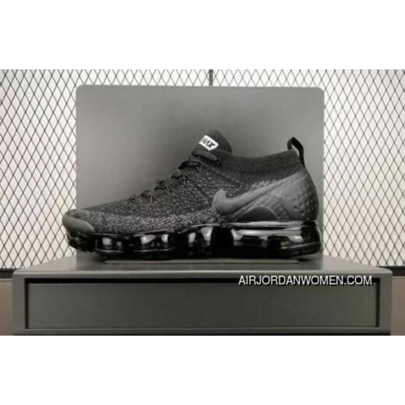 edca0865a2e68 NIKE AIR VAPORMAX FLYKNIT 2 SKU 942842 012 Black Grey Discount ...