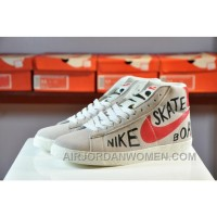 NIKE Blazer High Women Girl Genuine Leather Sneaker 2017 New Discount