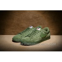 NIKE BLAZER LOW PRM VNTG 443903 Pig Leather Men Green Discount