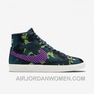 NIKE BLAZER MID JACQUARD 2017 Spring New 807382-200 Women Black Purple Super Deals X7mYY