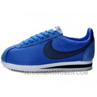 Nike Classic Cortez Nylon Game Royal Navy White Free Shipping EpzwAND