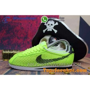 Hot Sell Popular Womens Nike Cortez Mesh Yellow Black Jogging Shoes Fashionable Authentic X8n3n