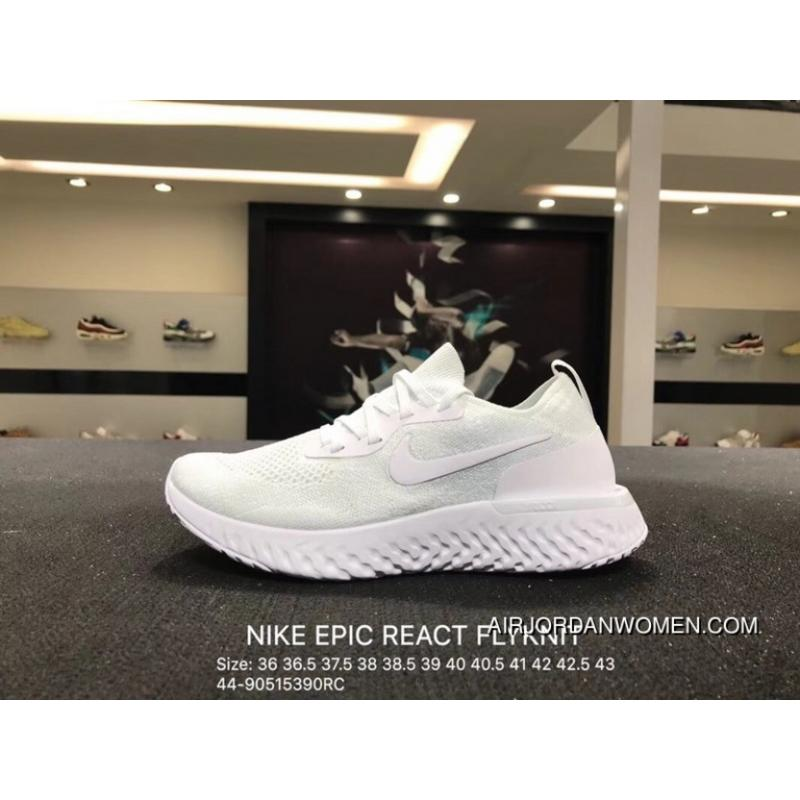 Nike EPIC REACT FLYKNIT REACT Knit Elastic Running Shoes Size AQ0070102 Outlet