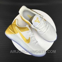 Nike Kobe 12 AD White Gold Men Free Shipping ITXMs