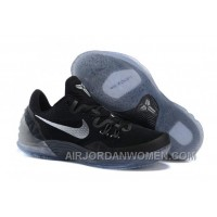 Cheap Genuine Nike Zoom Kobe Venomenon 5 Black Metallic Silver Dark Grey Free Shipping DjinjwM