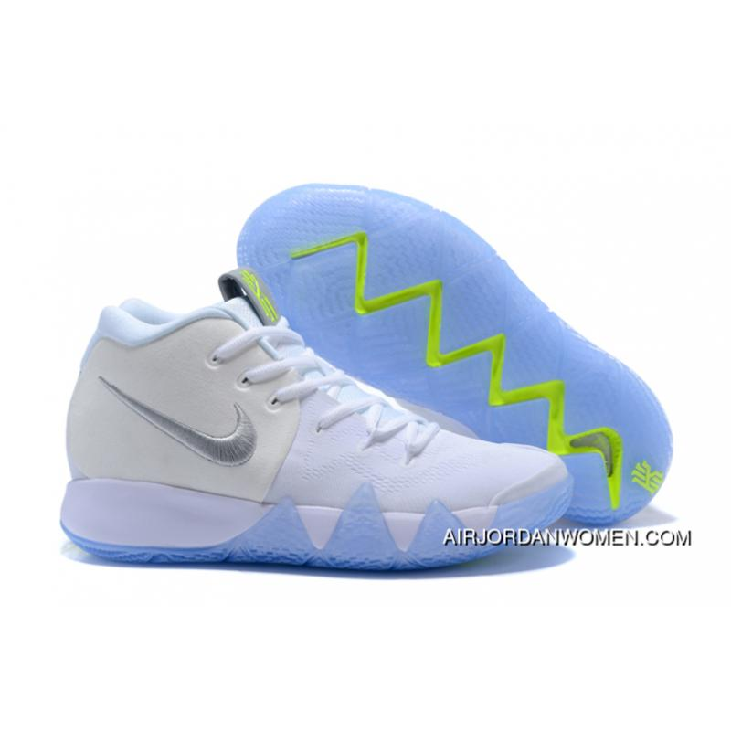 watch ad239 7dbc3 2018 New Nike Kyrie 4 White/Volt Shoes To Discount