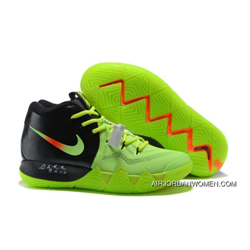 new concept 3189d 99d45 Super Deals >2018 Nike Kyrie 4 Black Green Orange Basketball Shoes