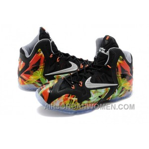 "Nike LeBron 11 ""Everglades"" Black/Metallic Silver-Wolf Grey-Atomic Mint For Sale Top Deals PwPi7"
