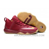 Nike Lebron Ambassador 9 Zoom Air Men Burgundy Cheap To Buy