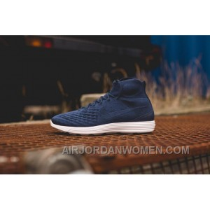 Nike Lunar Magista II Flyknit Blue White 852614-600 Authentic BTFrycP
