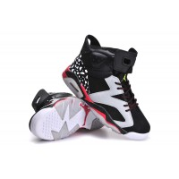 Women's Air Jordan 6 Speckle Black White Red