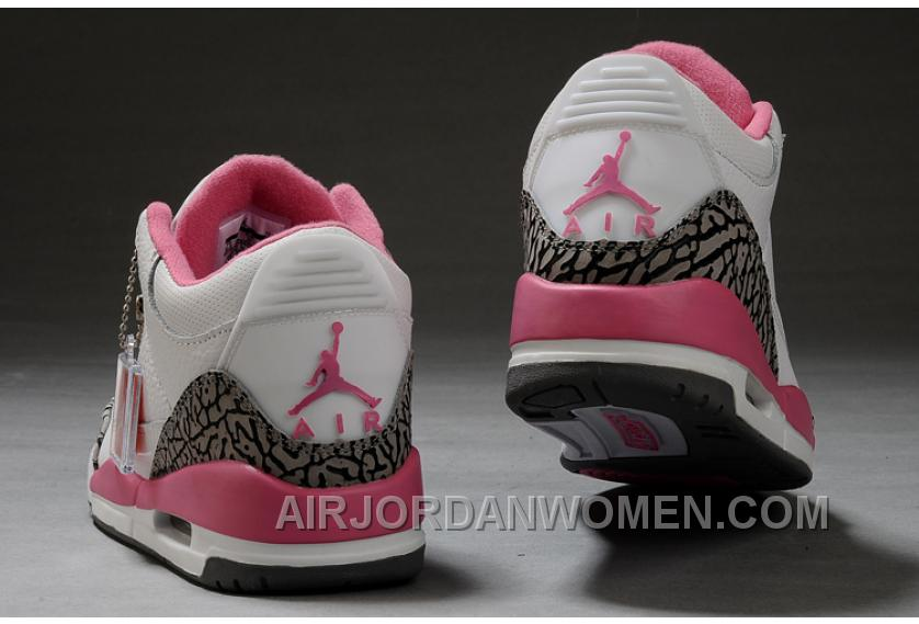 Authentic Air Jordan 3 White Pink Girls Size Cheap To Buy