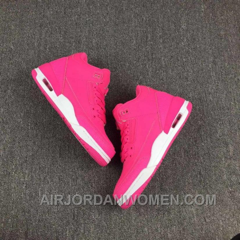 Air Jordan 3 White Pink Women 2017 Spring New Free Shipping CcwwNty