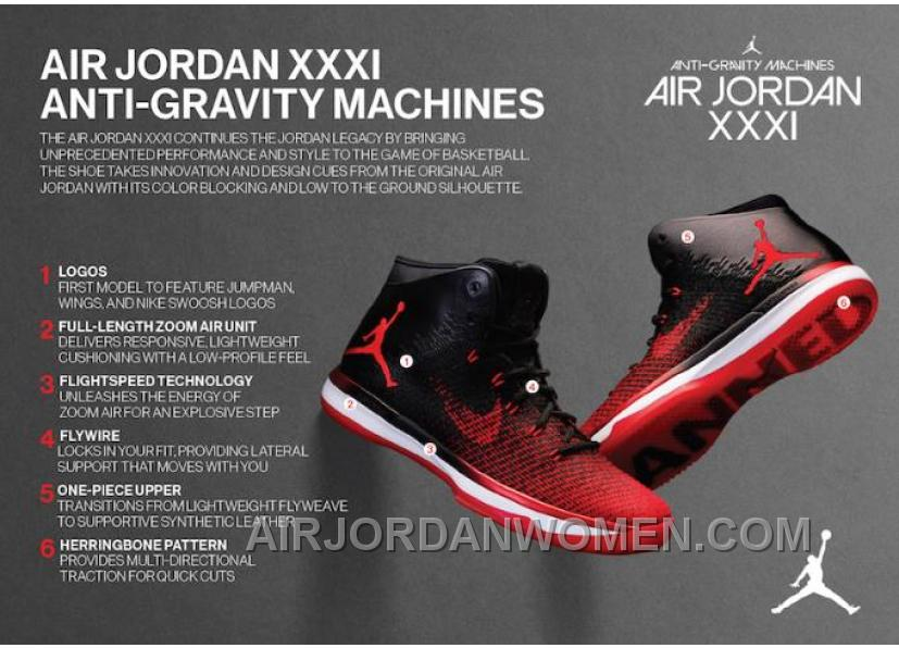 "2017 Air Jordan XXX1 ""Banned"" Black/University Red-White New Style 8fKiH"