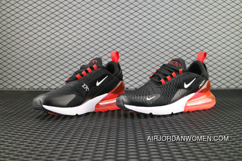 sports shoes 6b18a 34bf4 Nike Air Max 270 Flyknit Black White Red Ah8050 006 Running Shoes Free  Shipping