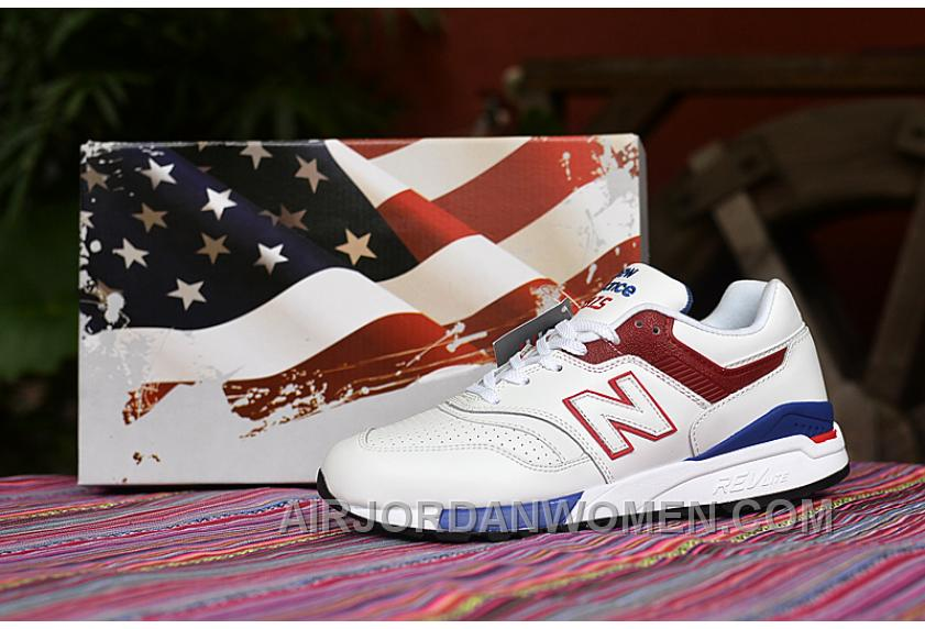 2016 New Balance 997.5BBK 997 998 American Flag White Red Blue Free Shipping A84XyBF