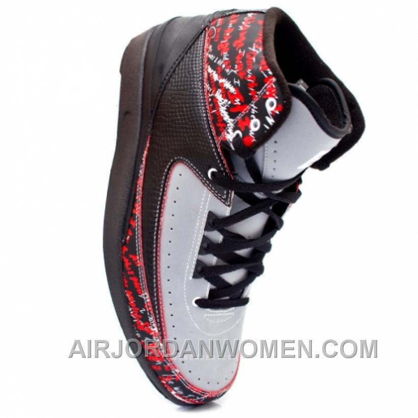 Air Jordan II Eminem Black Stealth Varsity Red 308308-002 New