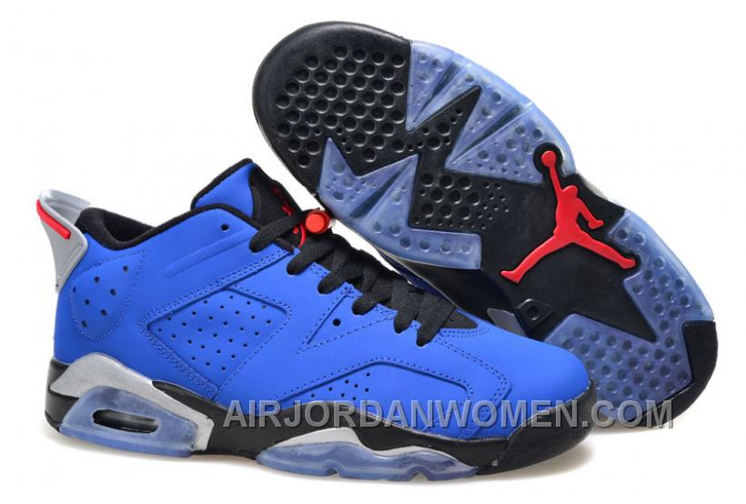 Air Jordan 6 (VI) Retro Low Eminem Custom Blue Black Red New