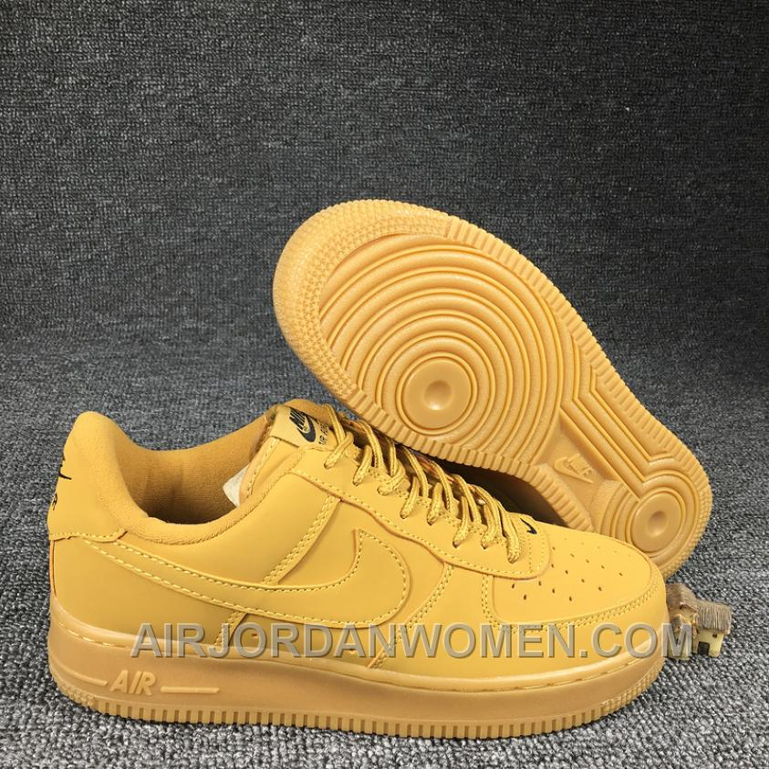 2016 NIKE AIR FORCE 1 Low 715889-200 Wheat Women Men Authentic