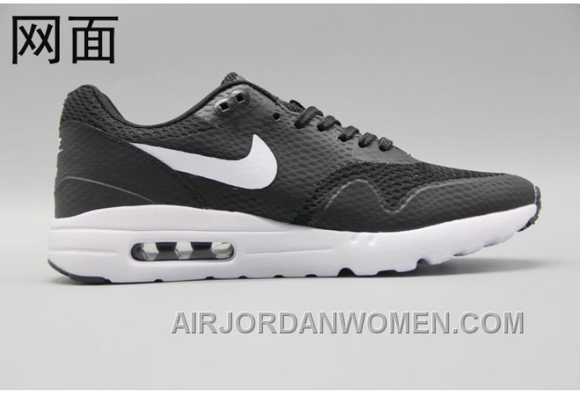 outlet store f54c7 2659d Nike Air Max 1 Ultra Flyknit 87 Oreo Black White Men Women Cheap To Buy  NbYAkP