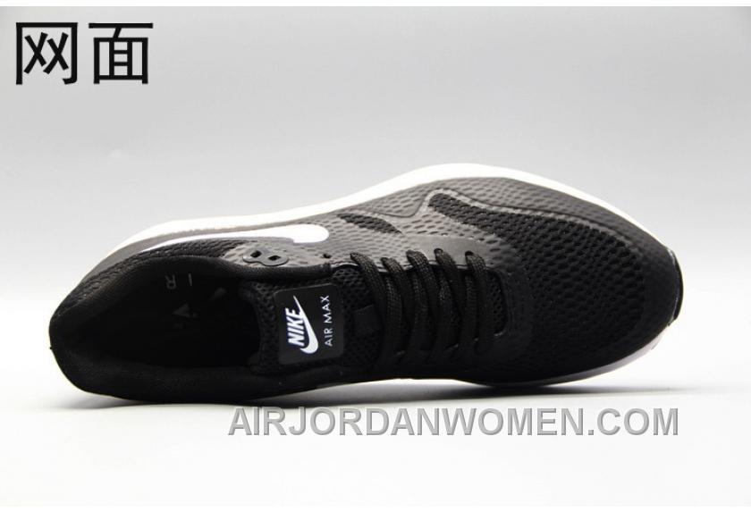outlet store 2c337 15fef Nike Air Max 1 Ultra Flyknit 87 Oreo Black White Men Women Cheap To Buy  NbYAkP
