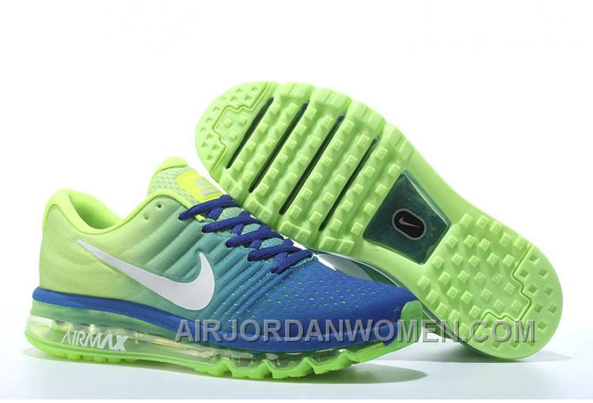 Authentic Nike Air Max 2017 Rolay Blue Volt Silver Free Shipping TJrNmm