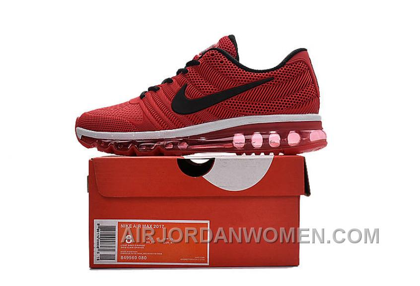 Authentic Nike Air Max 2017 KPU Red Black White Online ThfHSi