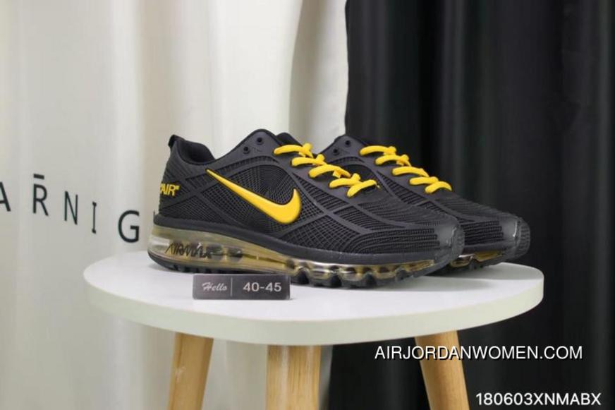 6ecd61ea2b604 Nike Full-palm Cushion Air Max 2019 Black Yellow New Style, Price ...