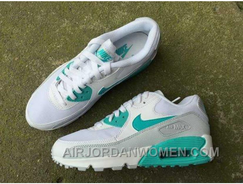 Nike Air Max 90 Womens White Green Top Deals X8knh